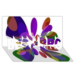 Colorful Abstract Flower Best Bro 3d Greeting Card (8x4)