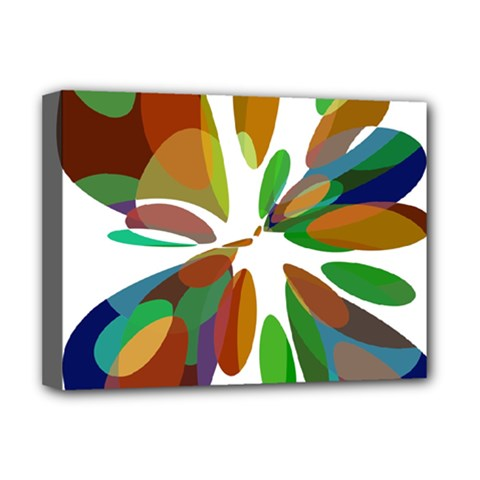 Colorful Abstract Flower Deluxe Canvas 16  X 12   by Valentinaart