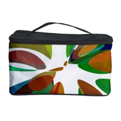 Colorful Abstract Flower Cosmetic Storage Case by Valentinaart