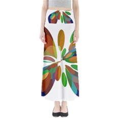 Colorful Abstract Flower Maxi Skirts by Valentinaart