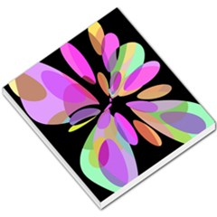 Pink Abstract Flower Small Memo Pads by Valentinaart