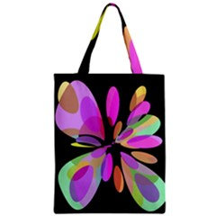 Pink Abstract Flower Zipper Classic Tote Bag by Valentinaart