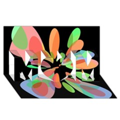 Colorful Abstract Flower Mom 3d Greeting Card (8x4)  by Valentinaart
