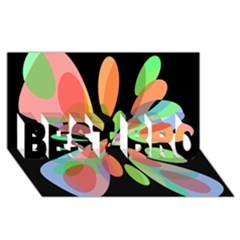 Colorful Abstract Flower Best Bro 3d Greeting Card (8x4)  by Valentinaart