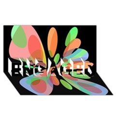 Colorful Abstract Flower Engaged 3d Greeting Card (8x4)