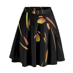 Orange Twist High Waist Skirt by Valentinaart