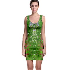 Floral Nature Sleeveless Bodycon Dress by olgart