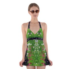 Floral Nature Halter Swimsuit Dress by olgart
