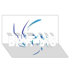 Blue Twist Best Sis 3d Greeting Card (8x4)