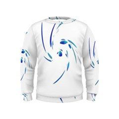 Blue Twist Kids  Sweatshirt by Valentinaart