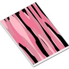 Black And Pink Camo Abstract Large Memo Pads by TRENDYcouture