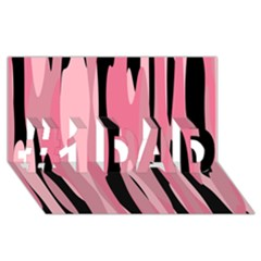 Black And Pink Camo Abstract #1 Dad 3d Greeting Card (8x4)