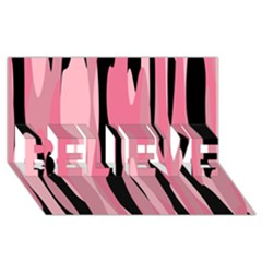 Black And Pink Camo Abstract Believe 3d Greeting Card (8x4)