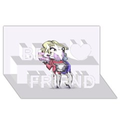 Suicide Harley Best Friends 3d Greeting Card (8x4)  by lvbart