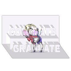 Suicide Harley Congrats Graduate 3d Greeting Card (8x4)  by lvbart