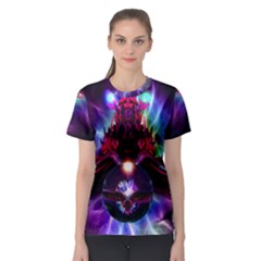 """dragon Orb"" By Spaced Painter Women s Sport Mesh Tee by SpacedPainterArt"