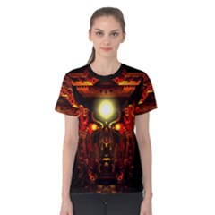mind Chamber  By Spaced Painter Women s Cotton Tee by SpacedPainterArt