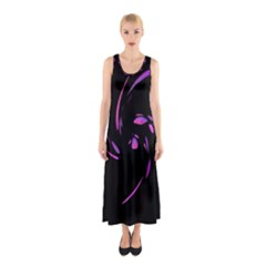 Purple Twist Sleeveless Maxi Dress by Valentinaart
