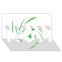 Green Twist Mom 3d Greeting Card (8x4)