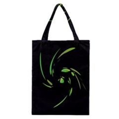 Green Twist Classic Tote Bag by Valentinaart