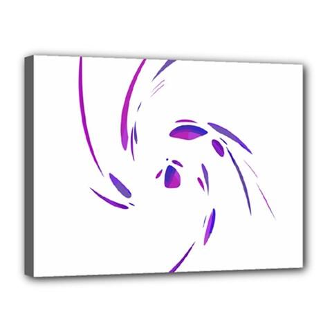 Purple Twist Canvas 16  X 12  by Valentinaart