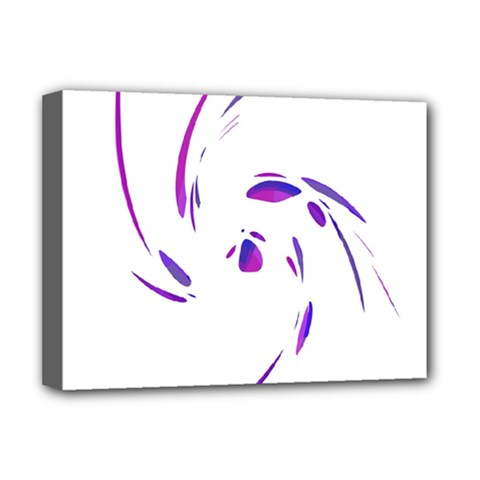 Purple Twist Deluxe Canvas 16  X 12   by Valentinaart