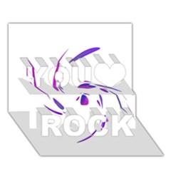 Purple Twist You Rock 3d Greeting Card (7x5)