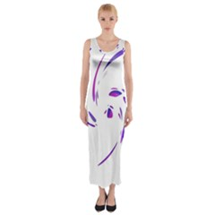 Purple Twist Fitted Maxi Dress by Valentinaart