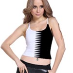 Black and white  Spaghetti Strap Bra Top