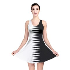 Black And White  Reversible Skater Dress by olgart