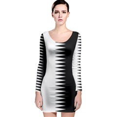 Black And White  Long Sleeve Bodycon Dress by olgart