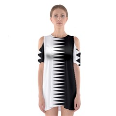 Black and white  Cutout Shoulder Dress by olgart