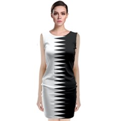 Black And White  Classic Sleeveless Midi Dress by olgart