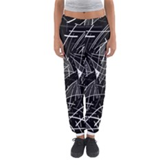 Gray Abstraction Women s Jogger Sweatpants by Valentinaart