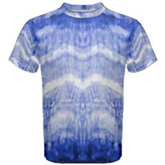 Tie Dye Indigo Men s Cotton Tee by olgart