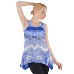 Tie Dye Indigo Side Drop Tank Tunic by olgart
