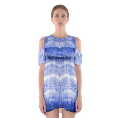 Tie Dye Indigo Cutout Shoulder Dress by olgart