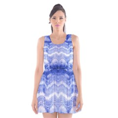 Tie Dye Indigo Scoop Neck Skater Dress by olgart