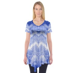 Tie Dye Indigo Short Sleeve Tunic  by olgart
