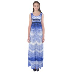 Tie Dye Indigo Empire Waist Maxi Dress by olgart
