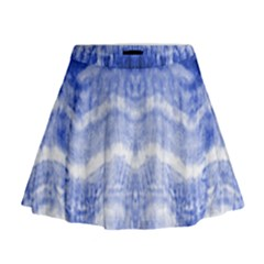 Tie Dye Indigo Mini Flare Skirt by olgart