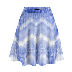Tie Dye Indigo High Waist Skirt by olgart