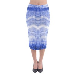 Tie Dye Indigo Midi Pencil Skirt by olgart