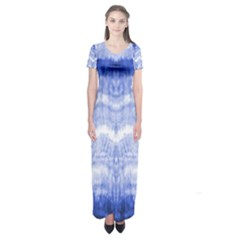 Tie Dye Indigo Short Sleeve Maxi Dress by olgart