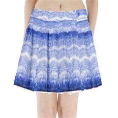 Tie Dye Indigo Pleated Mini Mesh Skirt(p209) by olgart