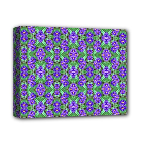 Pretty Purple Flowers Pattern Deluxe Canvas 14  x 11  by BrightVibesDesign