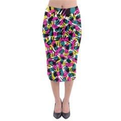 Kate Tribal Abstract Midi Pencil Skirt by LisaGuenDesign