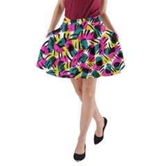 Kate Tribal Abstract A Line Pocket Skirt by LisaGuenDesign