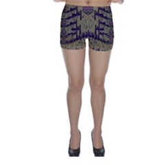 Lace Landscape Abstract Shimmering Lovely In The Dark Skinny Shorts by pepitasart