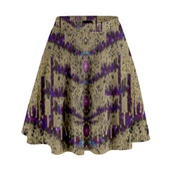 Lace Landscape Abstract Shimmering Lovely In The Dark High Waist Skirt by pepitasart